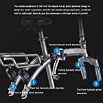Folding-Bike-Elettrico-Display-LCD-400W-Del-Motore-Velocit-Massima-25-Km-H-Sedile-Regolabile-Portable-Bicicletta-Pieghevole-Sport-Allaria-Aperta-Ciclismo-Work-Out-E-Il-PendolarismoWhite-100km