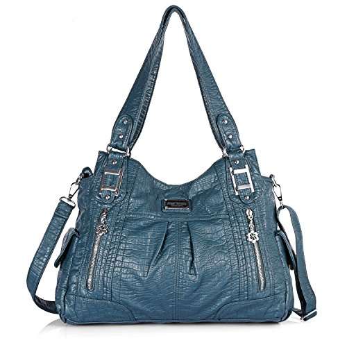 Hobo 3095 Top Roomy Handle Satchel Handbag Fashion PU Pockets Shoulder 12 green Bag Bag Bag Women Tote Street Multiple Ladies' 1dwfqST