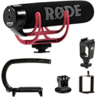 Cam Caddie Scorpion EX Camera Stabilizer Handle for Nikon, Canon,, Sony, iPhone, GoPro Hero 4, Hero 3+, Hero 3 and More - Black (0CC-0100-EX) + Rode VMGO Video Mic GO On-Camera Microphone Bundle