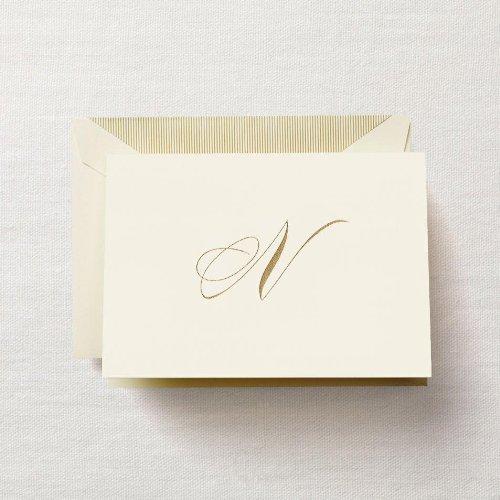 Crane & Co. Hand Engraved Script''N'' Initial Note (CF13N1) by Crane & Co.