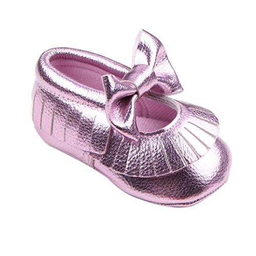 Tefamore Baby Girl Krippe Bowknot Schuhe Casual Schuhe Lila