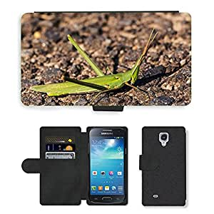 Super Stella Cell Phone Card Slot PU Leather Wallet Case // M00107578 Mantis Helmeted Locust // Samsung Galaxy S4 Mini i9190
