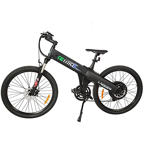 EGO Electric Mountain Bike Matt Black  500W Lithium Battery (Large Image)