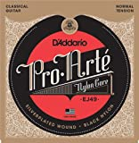 D'Addario EJ49 Pro-Arte Black Nylon Classical Guitar Strings, Normal Tension