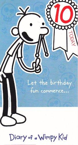 Geburtstagskarte zum 10. Geburtstag, Motiv \