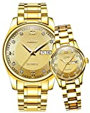 Swiss Men Women Automatic Mechanical Watch Couple Sapphire Glass Watches for Her or His Gift Set 2