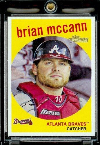 2008 Topps Heritage Baseball - 2008 Topps Heritage Baseball Card #425 Brian McCann
