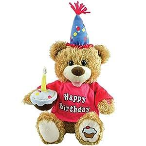 Amazon.com: Singing Light Up Happy Birthday Teddy Bear ...