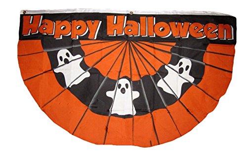 3x5 Happy Halloween Ghosts Ghost Bunting Fan Premium