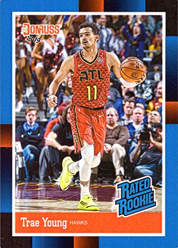2018-19 Panini Instant #RR5 Trae Young Rated Rookie Basketball Card - 1988 Donruss Retro Style ()