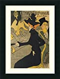 """Product Type: Framed Art Print. Title: Divan Japonais. Artist: Henri de Toulouse-Lautrec. Subject: people, person, figurative, figures. Frame: Corvino Satin Black 2 3/4"""" Wood. Mat: White/silver mist grey. Image Dimensions: 19.75"""" x 29.75"""". Outer Size..."""