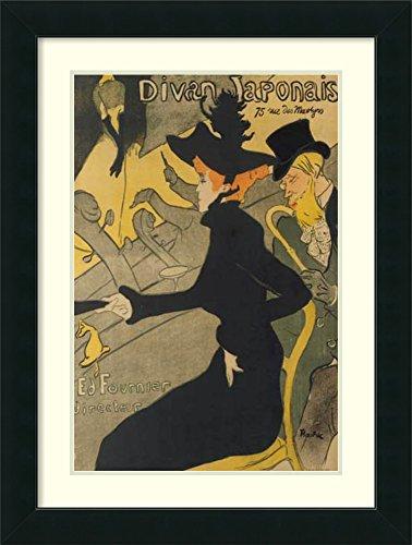 Framed Art Print 'Divan Japonais' by Henri de Toulouse-Lautrec ()