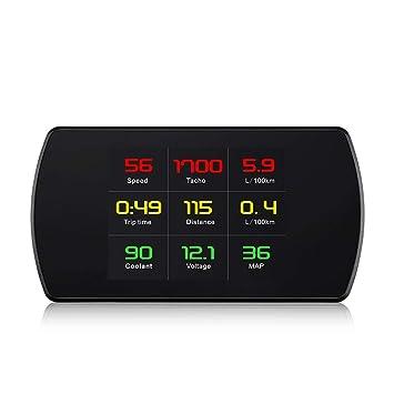 P12 HUD Ordenador digital del coche OBD Conducción ...