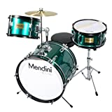 Mendini 3-Piece 16-Inch Junior Drum Set, Metallic Green - MJDS-3-GN