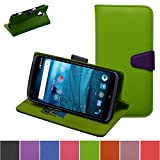 ZTE Grand X Max Case,Mama Mouth [Stand View] Folio Flip Premium PU Leather [Wallet Case] With Built-in Media Stand ID Credit Card / Cash Slots and Inner Pocket Cover For ZTE Grand X Max Z787,Green