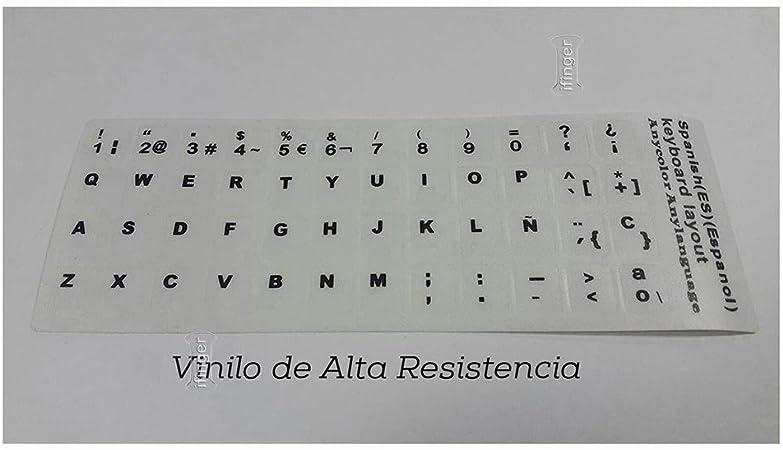 IFINGER Pegatina Real (No Digital) para Teclado de Ordenador portátil Blanco Sony Vaio en español Blanca: Amazon.es: Electrónica