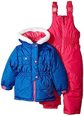 rugged bear girls 39 two piece snowsuit and. Black Bedroom Furniture Sets. Home Design Ideas