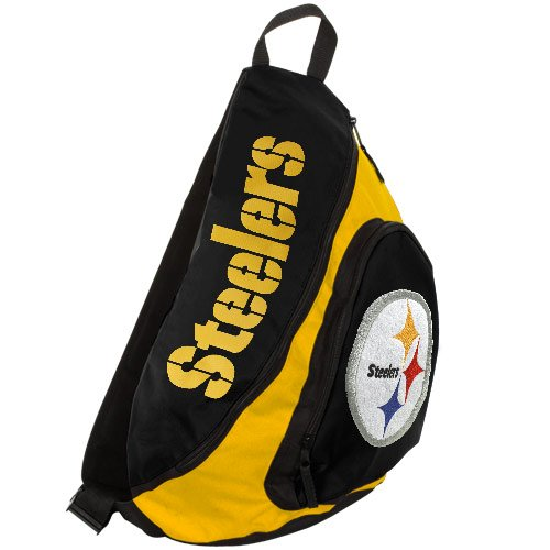 NFL Pittsburgh Steelers Slingback Sling Bag, Gold by Concept One Accessories