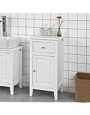 Haotian Bathroom Vanity Set,Eco-Friendly Extendable Bathtub Caddy,Bath Cabinet,Bathroom Storage Cabinet