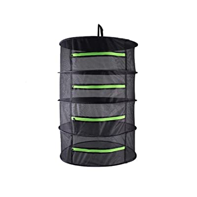 EACHON Small Size Hanging Plant and Bud Drying Rack Mini 4 Tier Hydroponic Dry Net for Herbs & Tea with Carry Bag 17.7 inch x 35.4inch : Garden & Outdoor