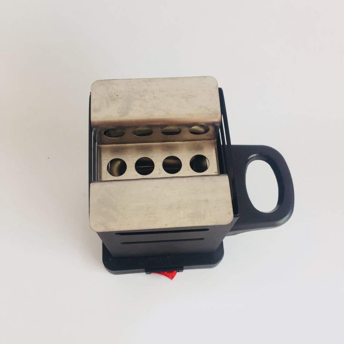 color: negro Horno de carb/ón de la estufa del calentador de carb/ón Shisha Nargila del calentador de carb/ón de le/ña de la hornilla del carb/ón de le/ña 600W de la cachimba