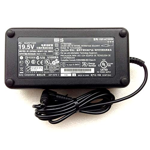 19.5V 7.7A 150Watts VGP-AC19V54 AC Power Supply Adapter + AC Power Cord for -