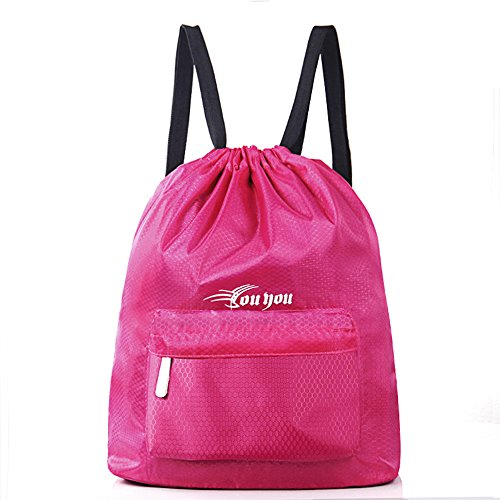Cheap Swim Backpack Gym Sports Beach Bag Outerdoor Camp Bag with Dry and Wet Area for Women Men & Girls Boys (Pink)