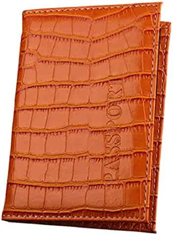 JYS Passport Cover,Thaibestus Travel ID Card Ticket Holder Faux Leather Wallet
