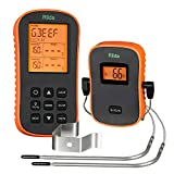 Riida Wireless Meat Thermometer, Remote Cooking Barbecue,Digital Grill Thermometer with Dual Probes for Oven Smoker Grill BBQ Thermometer Kitchen Tools(300 Feet)