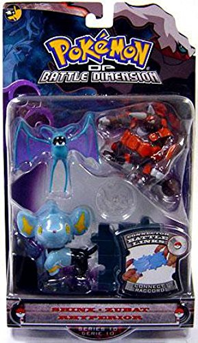 Pokemon Diamond and Pearl Series 10 Basic Figure 3-Pack Shinx, Zubat and Rhyperion