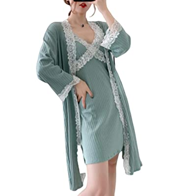 Pijamas para Mujer, Moda Joven Camisón De Terciopelo Dorado ...