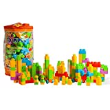 Dimple Large Building Blocks for Kids (225-Piece Set) Stackable, Multi-Colored, Interlocking Toys Safe, Non-Toxic Plastic Bright Colors, Waterproof Boys and Girls