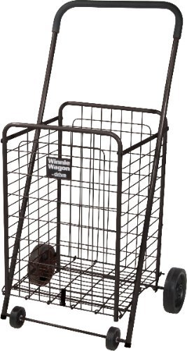 Black Winnie Wagon All Purpose Shopping Utility Cart *** Product Description: Sturdy, All-Purpose Cart Makes It Easy To Transport Groceries, Laundry And Personal Items. Manufactured With Lightweight, Durable Steel. Large - Winnie Wagon