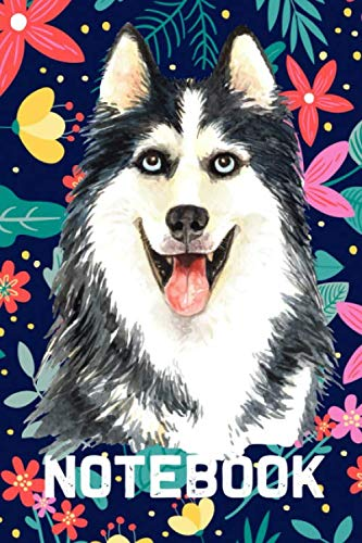 Notebook: Lined Notebook for Siberian Husky Dog lovers - 120 Lined Pages, 6x9 - Dog Journal Planner