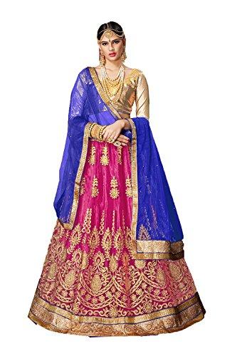 FourCorners2013 Indian Women Designer Partywear Ethnic Traditional Pink Lehenga Choli. by FourCorners2013