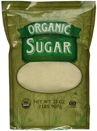 - Trader Joe's Organic Sugar Evaporated Cane Juice Certified USDA Organic Certified Organic Quality Assurance International and Kosher (QAI) 2 Pound Bag (32 Oz)