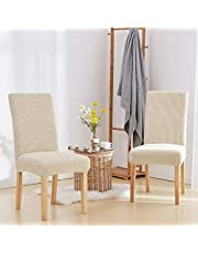 Deconovo Washable Removable Chair Covers for Dining Room