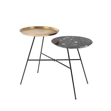 Felis lifestyle 2300111 indy table dappoint acier noir or 555 x