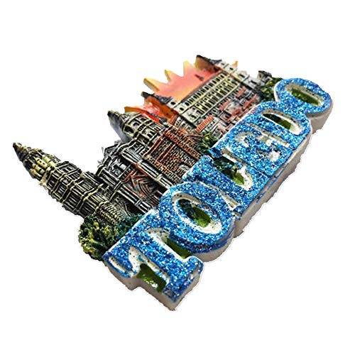 Fridge Magnet Toledo Cathedral Spain 3D Resin Handmade Craft Tourist Travel City Souvenir Collection Letter Refrigerator Sticker]()