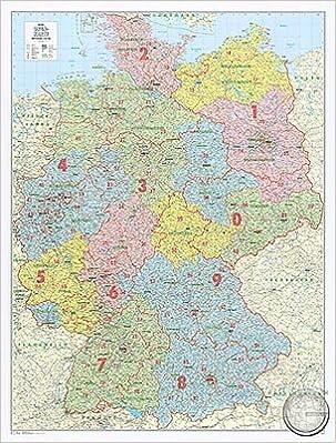 Bundeslander Karte Mit Postleitzahlen Deutschland Xl Pinn Version