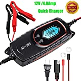 GOOSUO Battery Charger 6V 1A & 12V 4A Portable Battery Maintainer Waterproof Fully