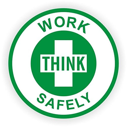 1-Pc Foremost Popular Think Work Safely Vinyl Stickers Safe Shop Label Helmet Self-Adhesive Size 2