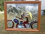 Motorcycle Window Art Sun Catcher, Biker Art, LGBT