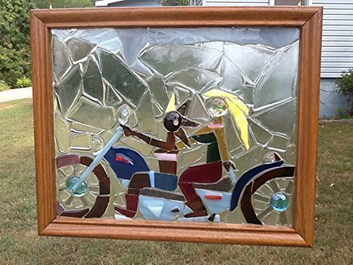 Motorcycle Window Art Sun Catcher, Biker Art, LGBT