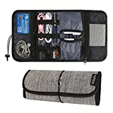 Travel Gear Organizer, PRITEK Electronics Accessories Organizer Bag, Cable Management Travel Carry Case, Healthcare Kit and Cosmetics Storage Bag-Gray