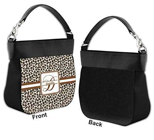 w Trim Front Genuine Hobo Leather Personalized Leopard Purse Print tOSvvq