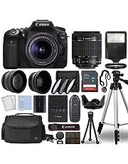 $1299 » Canon EOS 90D Digital SLR Camera Body with Canon EF-S 18-55mm f/3.5-5.6 is STM Lens 3 Lens DSLR Kit Bundled with Complete Accessory Bundle + 64GB + Flash + Case/Bag & More - International Model