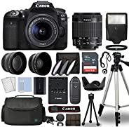 Canon EOS 90D Digital SLR Camera Body with Canon EF-S 18-55mm f/3.5-5.6 is STM Lens 3 Lens DSLR Kit Bundled wi