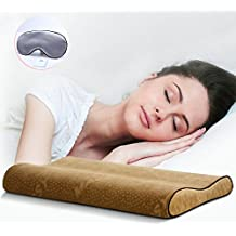 Woolala Ultra Thin Contour Memory Foam Pillow Bed Pillow for Sleeping and Neck Support with Removable Soft Pillow Cover