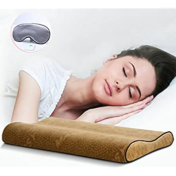Amazon Com Woolala Ultra Thin Contour Memory Foam Pillow